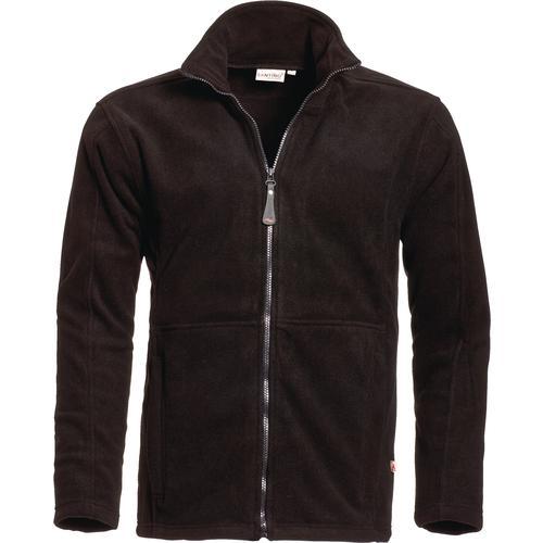 fleece-jakke-mænd-med-logo-tryk-sort-reklamedimser
