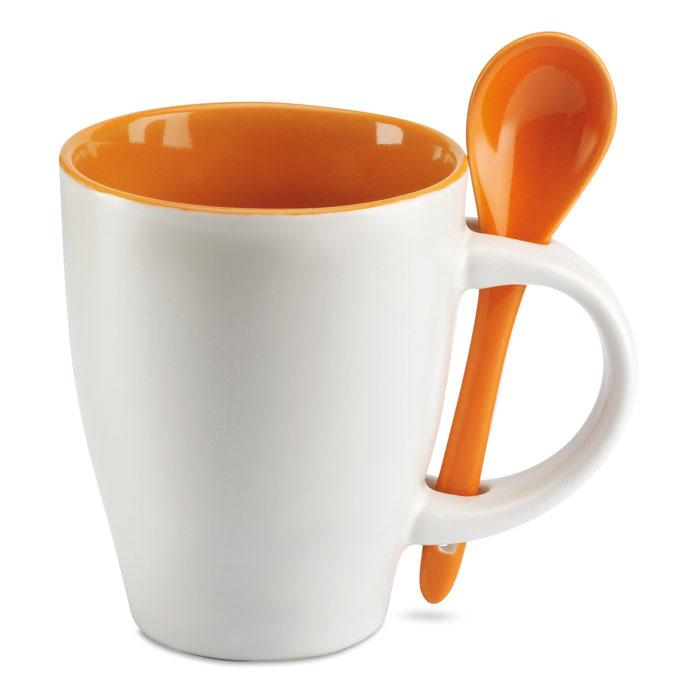 krus-med-ske-med-logo-tryk-orange-reklamedimser