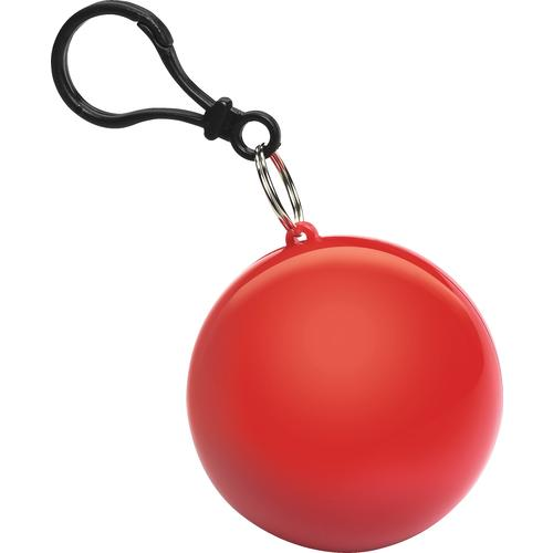 regnponcho-med-logo-tryk-rød-reklamedimser